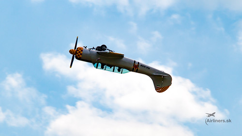 Yakovlev Yak-52 during acrobatic display