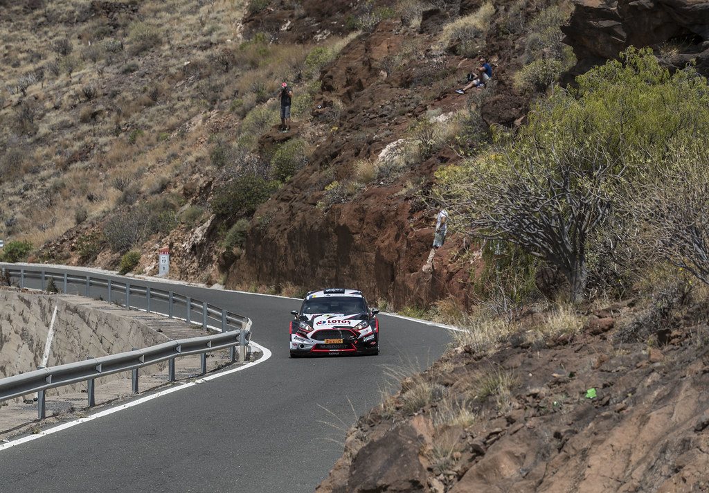06 KAJETANOWICZ Kajetan (POL),  BARAN Jaroslaw (Pol), Ford Fiesta R5 Action during the 2017 European Rally Championship ERC Rally Islas Canarias, El Corte Inglés,  from May 4 to 6, at Las Palmas, Spain - Photo Gregory Lenormand / DPPI
