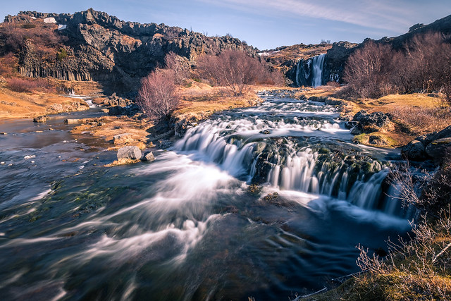 Waterfalls in Gjain - Iceland - Travel photography
