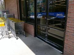 Entrance door (and shopping carts)