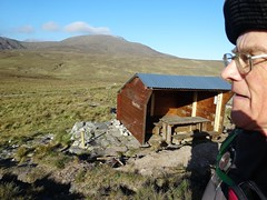 2017 May09 - Arobet shelter with climb ot Nephin Beg behind.