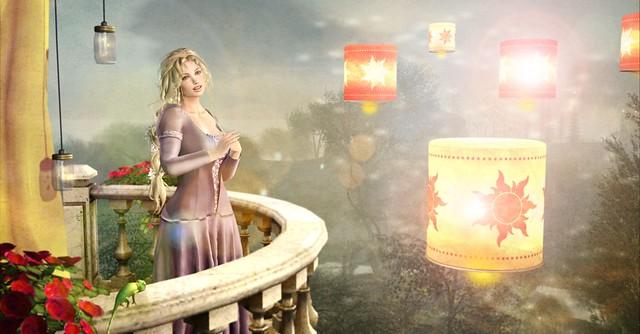 Rapunzel's Lanterns-  Contest Entry