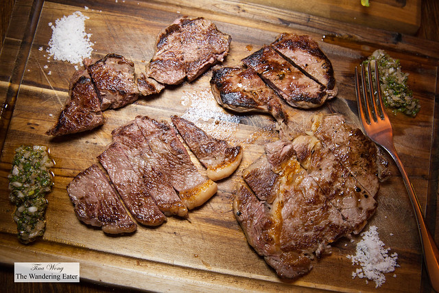 Smaller portion of Atalho (dry aged beef fillet, Black Angus picanha and Wagyu)