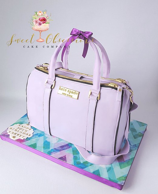 Kate Spade Handbag Cake by Cassie Molina of Sweet Obsessions Cake Co.