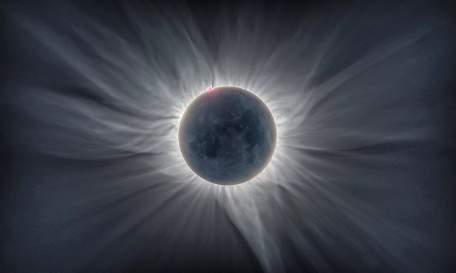 Sun Flower Corona The image is a composite of 12 photos taken during the total solar eclipse observed in Indonesia, 9 March 2016. You can clearly see…  …the coronal structures. Photographer managed to photograph this eclipse from Tidore Island, Eastern In