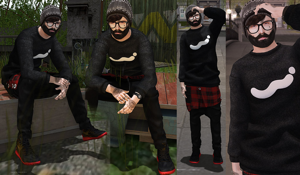 [BrunStyle] Comfort Sweatshirt (Fitted Mesh) - SecondLifeHub.com