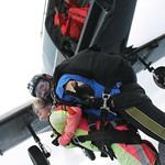 Tandem Skydiver Caitlyn Exiting The Plane