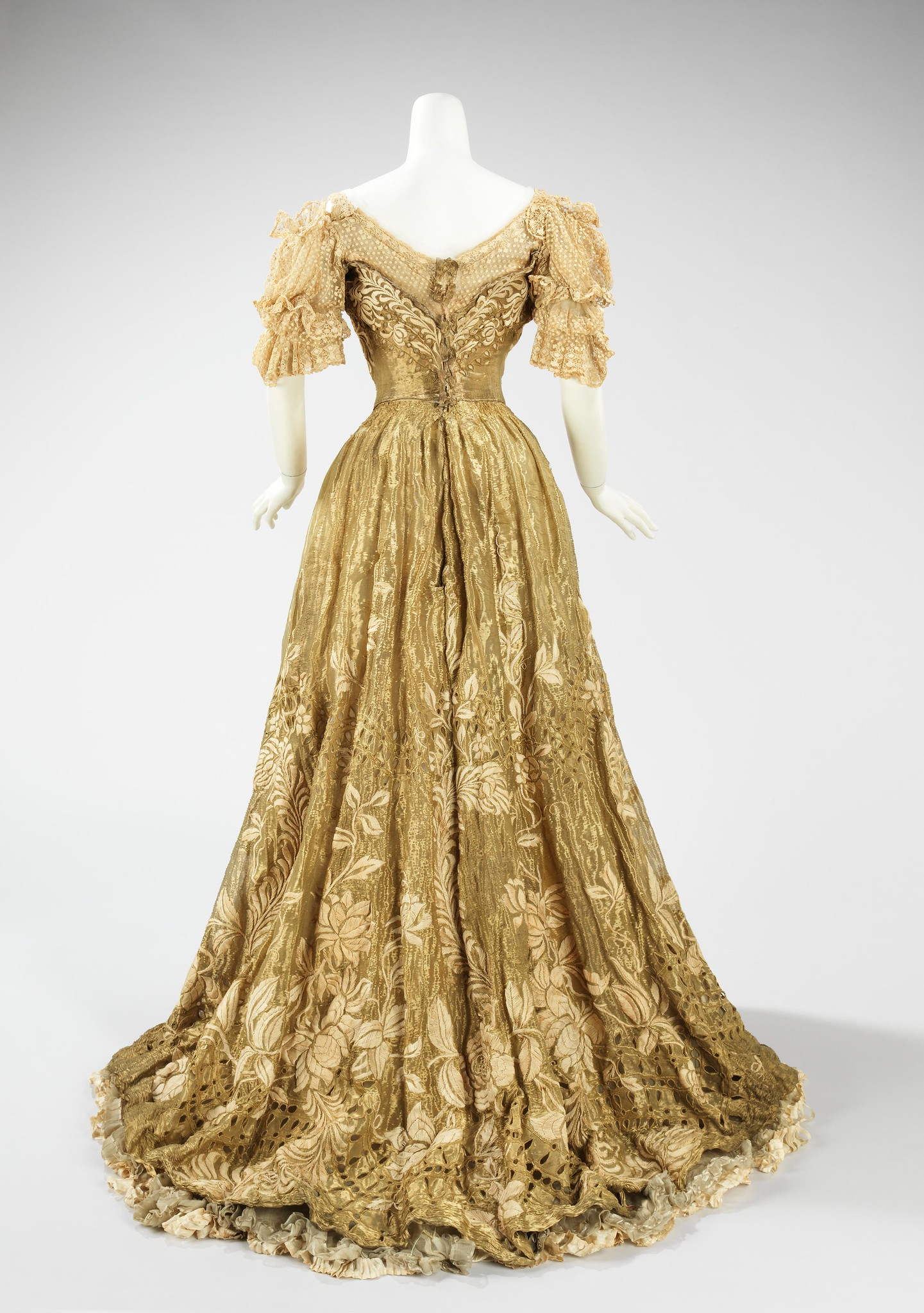 1898 Ball gown. French. Jacques Doucet. Silk, metal, linen. metmuseum