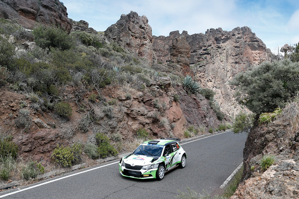 33 RENDINA Max (ITA), INGLESI EMANUELE (ITA), Skoda Fabia R5, Action during the 2017 European Rally Championship ERC Rally Islas Canarias, El Corte Inglés,  from May 4 to 6, at Las Palmas, Spain - Photo Alexandre Guillaumot / DPPI