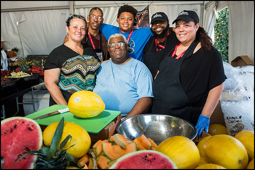George's Produce team at Jazz Fest day 7 on May 7, 2017. Photo by Ryan Hodgson-Rigsbee www.rhrphoto.com