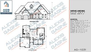 Plan de maison 1 étage avec garage - MM1eG.11