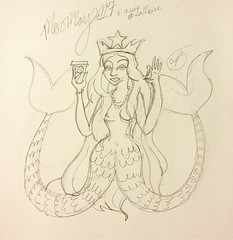 The #mermay2017 theme today was #caffeine so, I just had to do the #starbucks #mermaid who is also basically #melusine! I feel like I am the only one following @tombancroft1 prompts for this :cry: #coffee #fairytail #2017 #mermay #myth #mythology #may