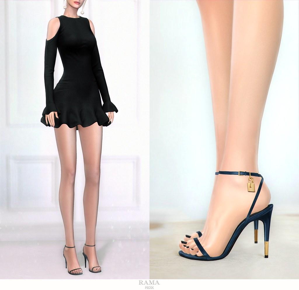 RAMA.Prosk - Stephanie Ruffled Mini Dress & Robin Leather Sandals for FaMESHeD Anniversary - SecondLifeHub.com