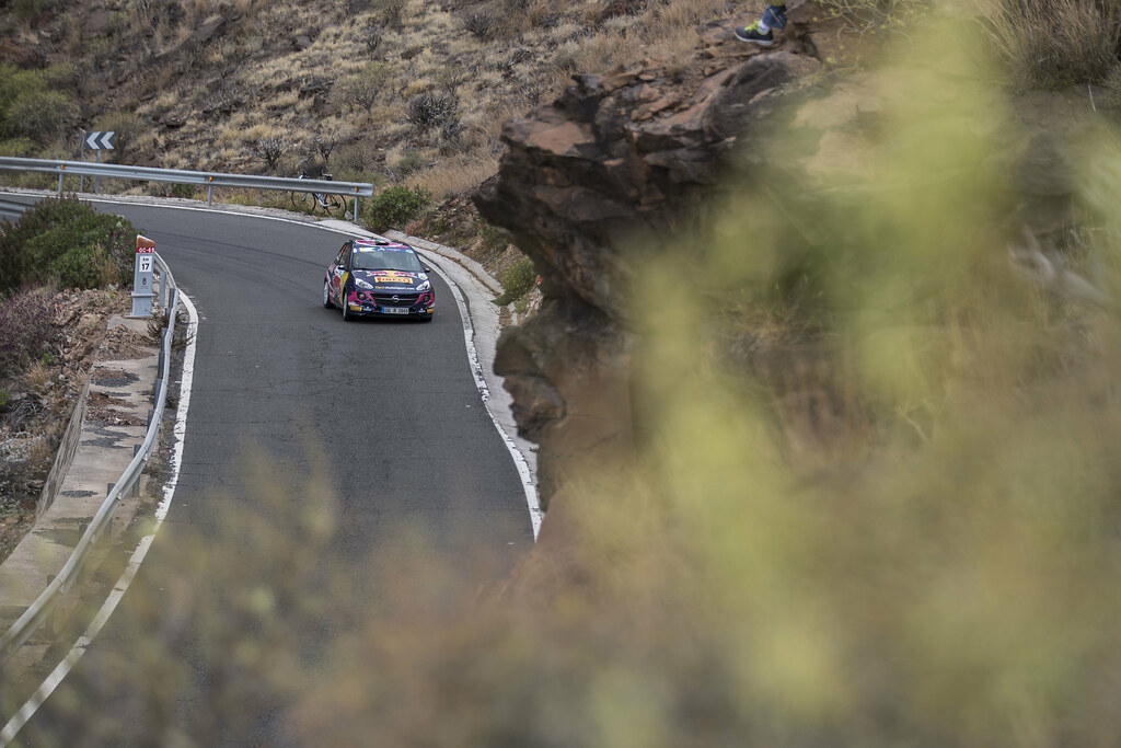 30 MOLINARO Tamara (ITA), MAYRHOFFER Ursula (AUT) Opel Adam R2, Action during the 2017 European Rally Championship ERC Rally Islas Canarias, El Corte Inglés,  from May 4 to 6, at Las Palmas, Spain - Photo Gregory Lenormand / DPPI
