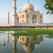 Taj Mahal Sunset by mark eugen