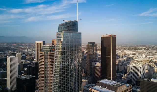 Wilshire Grand, Aerial View