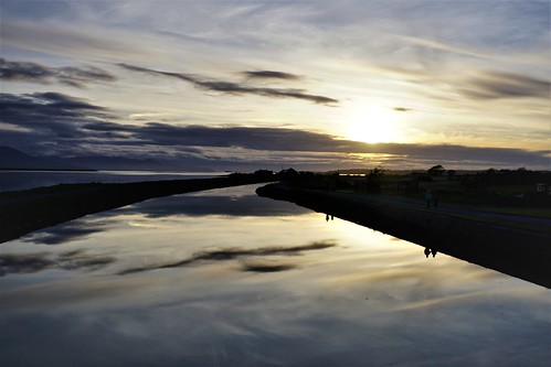 blennerville tralee reflections sunset canal traleecanal sky clouds reflection