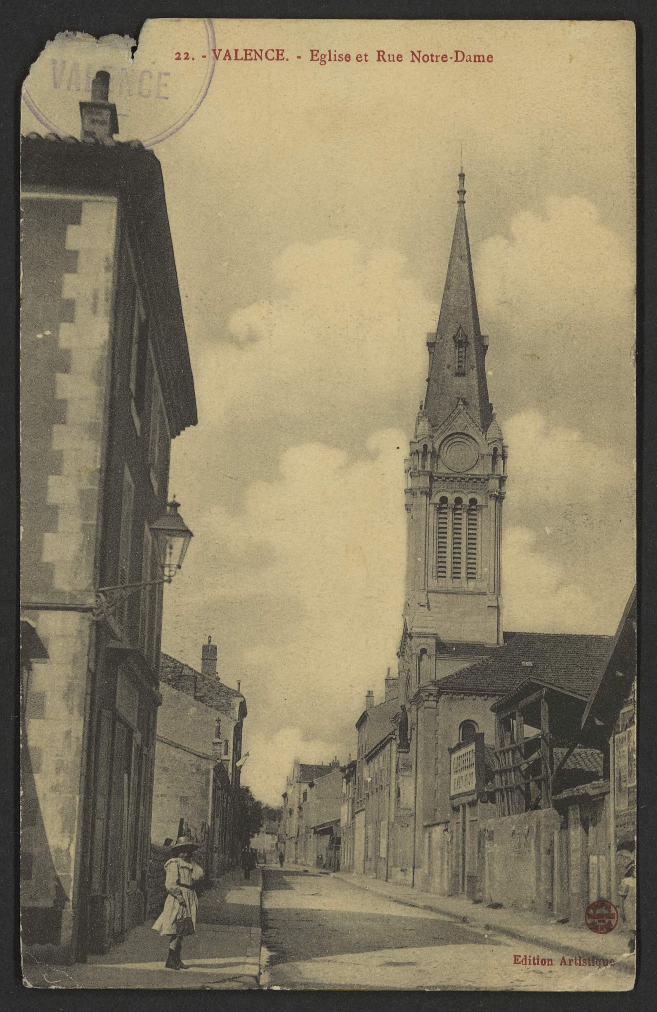 Valence - Eglise et Rue Notre-Dame