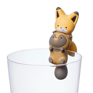 人氣的動物角色化身杯緣玩具!PUTITTO 狸貓與狐狸(タヌキとキツネ)
