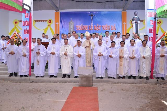 Thánh Lễ Đặt Viên Đá Đầu Tiên Xây Dựng Nhà Thờ Martinô, Thuộc Giáo Xứ Võ Đắt