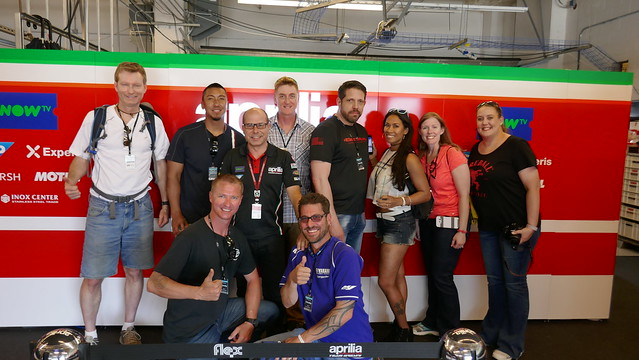 Visiting the Aprilia garage
