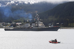 USS O'Kane (DDG 77) arrives in Juneau, May 13. (U.S. Navy/MC2 Alex Van'tLeven)