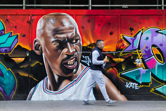 Michael Jordan and a Baguette