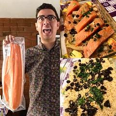Hoy cocinamos salmón al horno con limón y espárragos acompañado de couscous y especias! She shico! :heart_eyes: #foodie #Foodporn #Guatemala #Paralelo17N