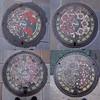 Photo:大分県別府市 #manhole フラワーシティBeppu バージョン 9月(ハギ・カンナ) 10月(コスモス・フヨウ) 11月(キク・サザンカ) 12月(ハボタン・ツバキ) #nincolle By tadayoshi527