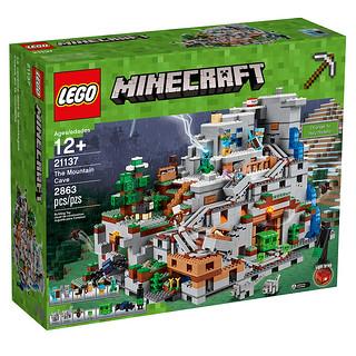 「新增官圖&販售資訊!」千呼萬喚始出來~ 超壯觀的LEGO 21137 MINECRAFT 系列【Mountain Cave】怪物等級的龐然巨物!!