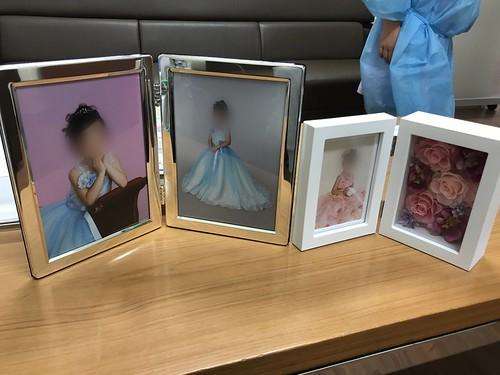京王百貨店の写真スタジオで撮影した娘の写真