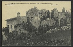 Peyrus (Drôme) - Occupation militaire des ruines de Guindan/ Séjour du 75è