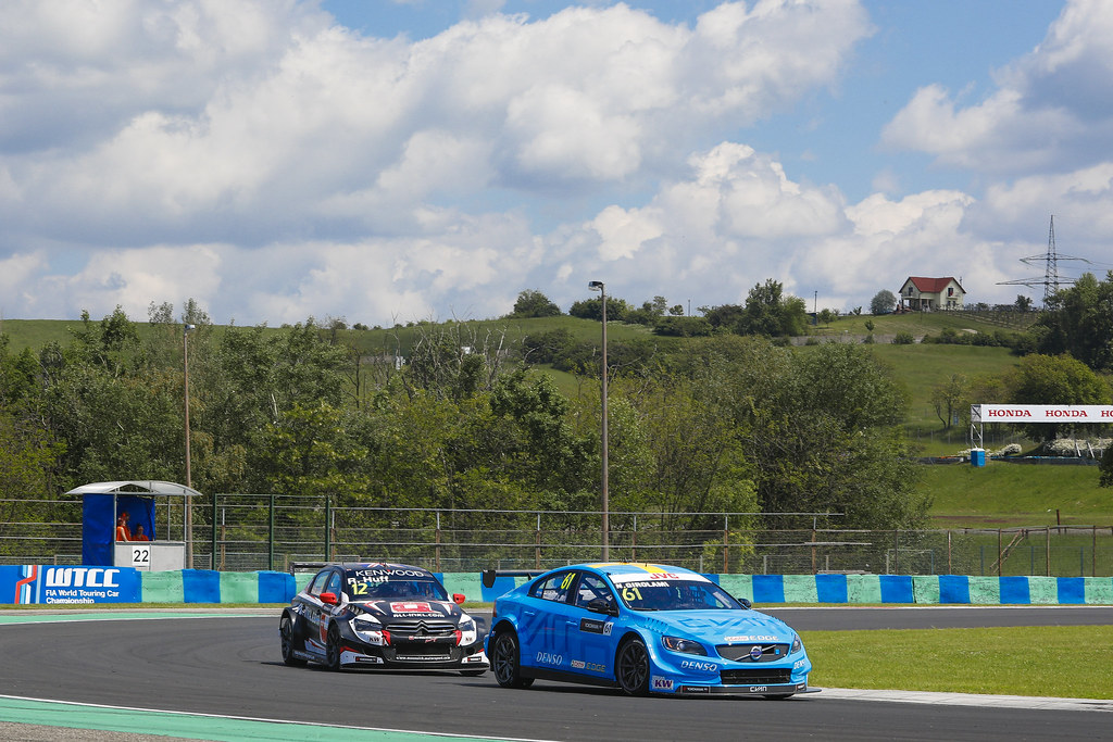 61 GIROLAMI Nestor (arg), Volvo S60 Polestar team Polestar Cyan Racing, action 12 HUFF Rob (gbr), Citroen C-Elysee team ALL-INKL.COM Munnich Motorsport, action   during the 2017 FIA WTCC World Touring Car Race of Hungary at hungaroring, Budapest from may 12 to 14 - Photo Frederic Le Floc'h / DPPI