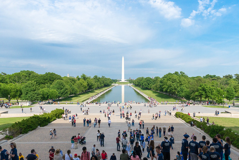 Weekend Vacations -Spring crowd at the Washington DC National Mall