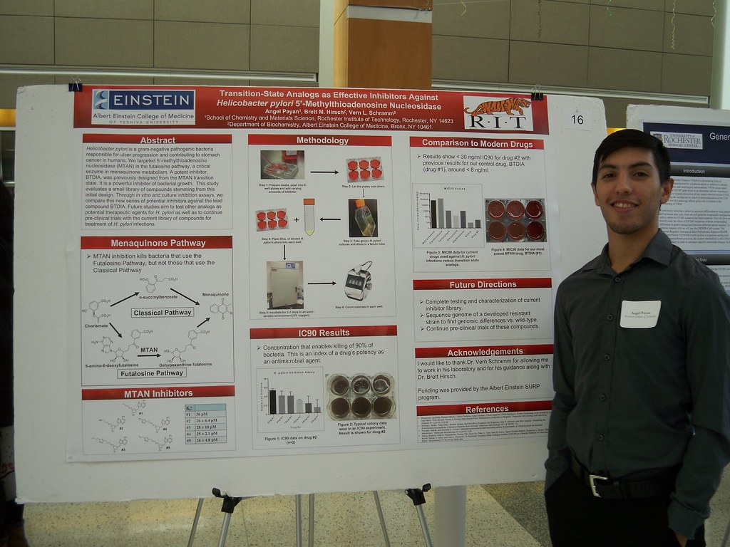 Angel Payan with Poster