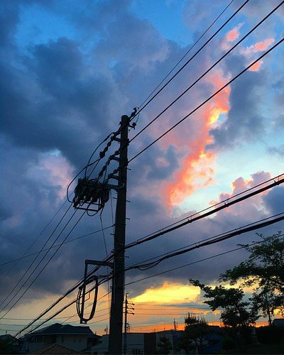 電車かなり遅れたけどなんとか最寄り(ΦωΦ)おつかれさまでしたー #イマソラ #いまそら #japanese #sky