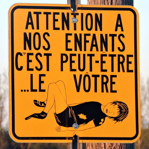 mypics sign signs canada dalhousie quebec yellow warning deadchild