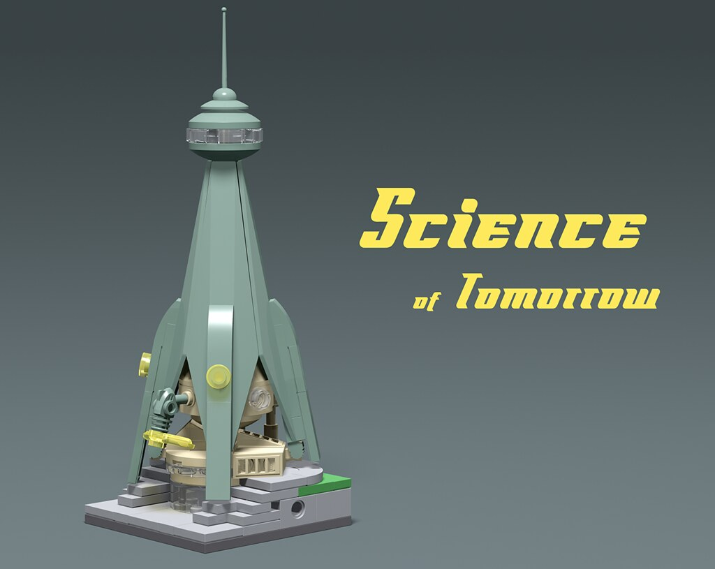 50's Science Museum (custom built Lego model)