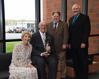 Mon, 05/08/2017 - 10:11 - Edgar and Mary Louise Hollwedel, Foundation Board President Brian Daviau and Genesee Community College President James Sunser