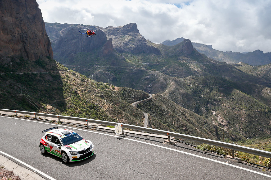 02 GRIEBEL Marijan (DEU), KOPCZYK Stefan (DEU), Skoda Fabia R5, Action during the 2017 European Rally Championship ERC Rally Islas Canarias, El Corte Inglés,  from May 4 to 6, at Las Palmas, Spain - Photo Alexandre Guillaumot / DPPI