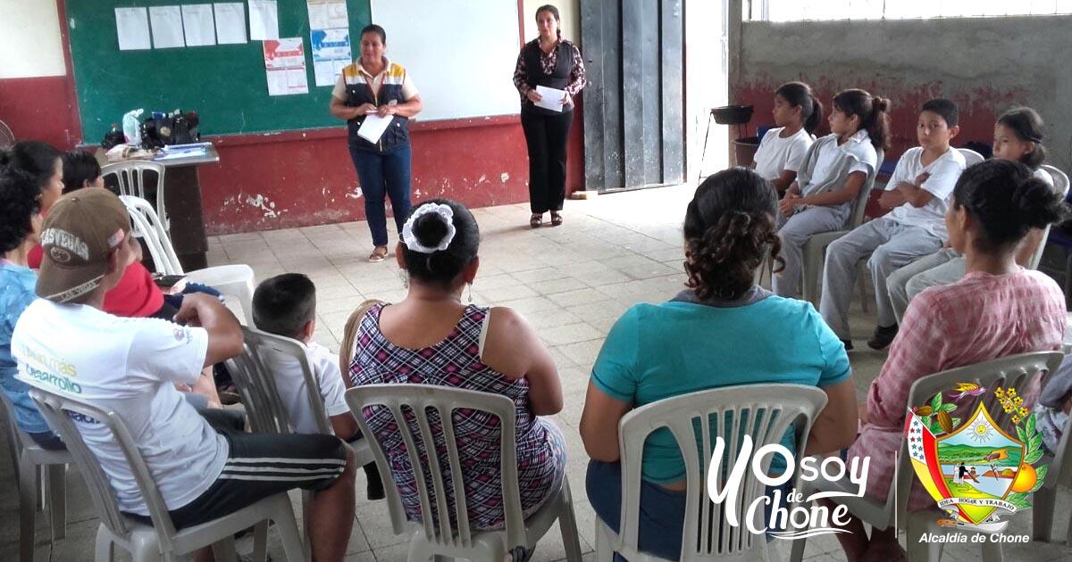 Alcaldía de Chone realizó capacitación de prevención de trabajo infantil