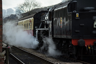 20170330-37_Black Five Engine 5MT 45407 + Train at Levisham Station