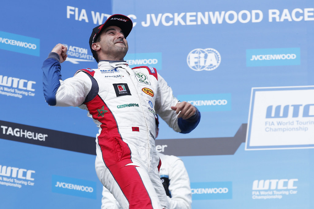 BENNANI Mehdi (mor), Citroen C-Elysee team Sébastien Loeb Racing, ambiance portrait PODIUM during the 2017 FIA WTCC World Touring Car Race of Hungary at hungaroring, Budapest from may 12 to 14 - Photo Jean Michel Le Meur / DPPI