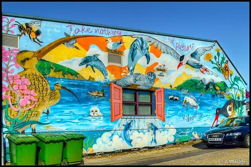sea seascape ship uk sunset nikon invergordon cromartyoffirth highlands murals streetart town