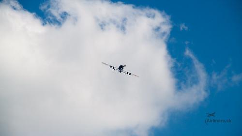 Yak-52 during acrobatic display
