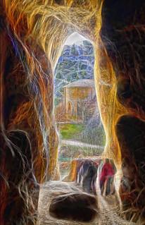 cueva  del cañon del rio lobos
