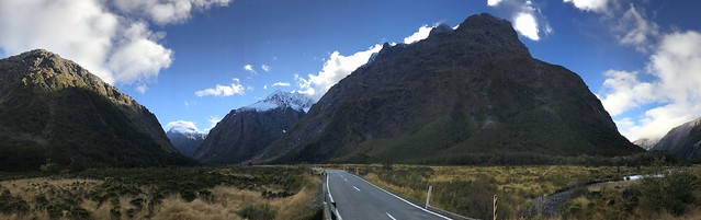 The road ahead in New Zealand's Fjordland National Park