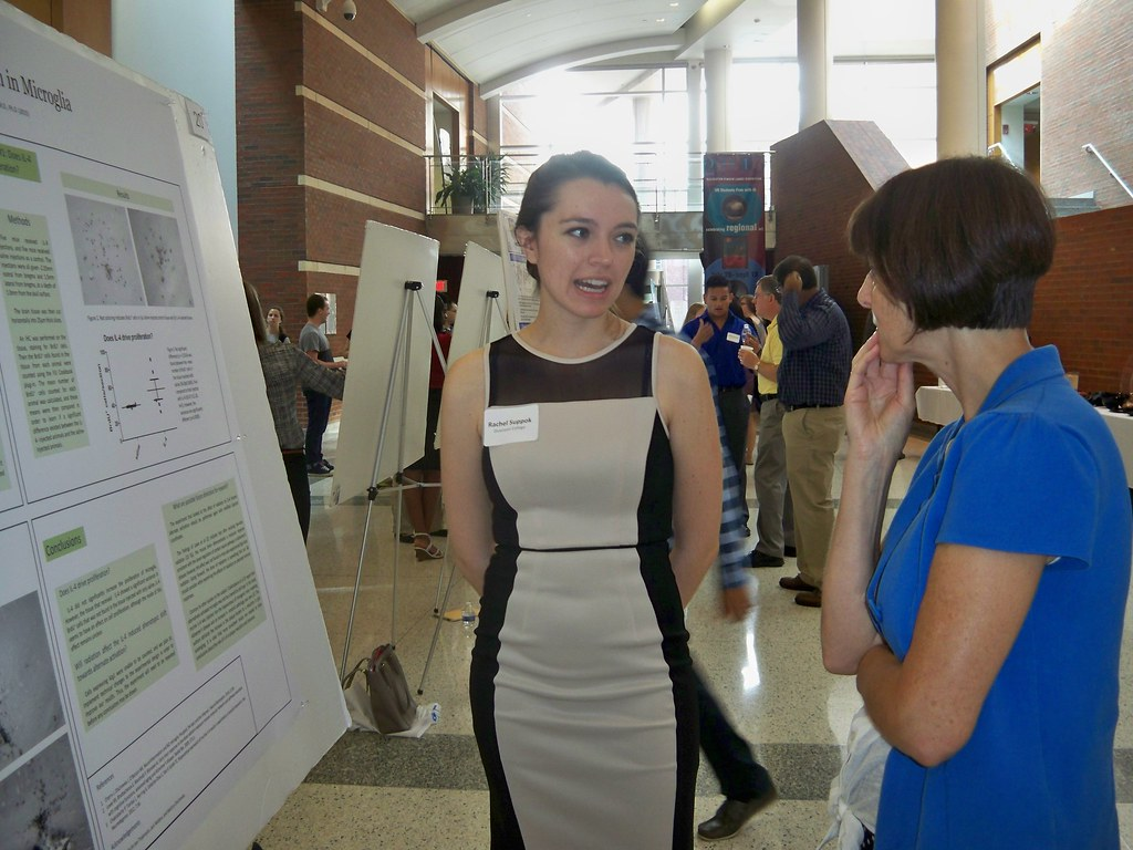 Rachel Suppok explains her research