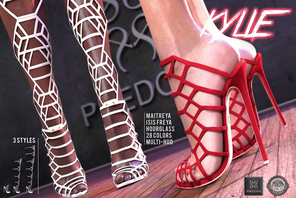 "Phedora. for ROMP- ""Kylie"" multi-style heels! ♥ - SecondLifeHub.com"