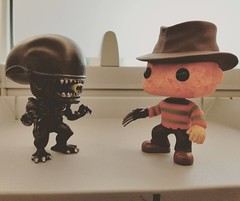 only when they sleep? what happens the rest of the time? #funkopop #funkophotoaday #alien #freddykrueger
